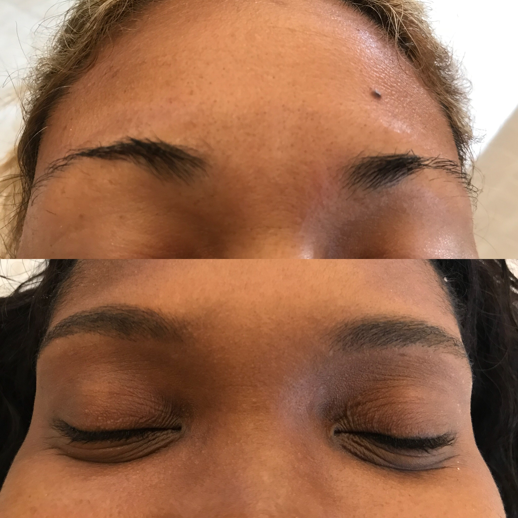 Before and After Eyebrows Tint