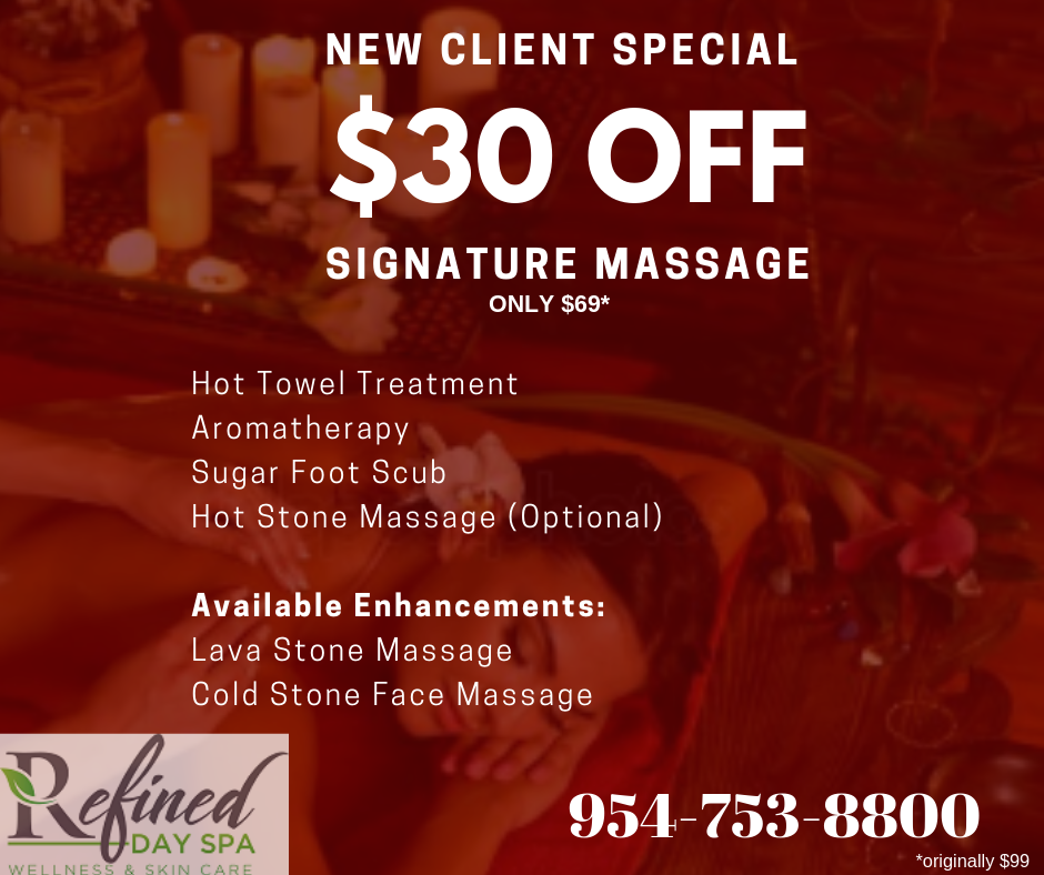 Refined Day Spa Signature Massage Coral Springs