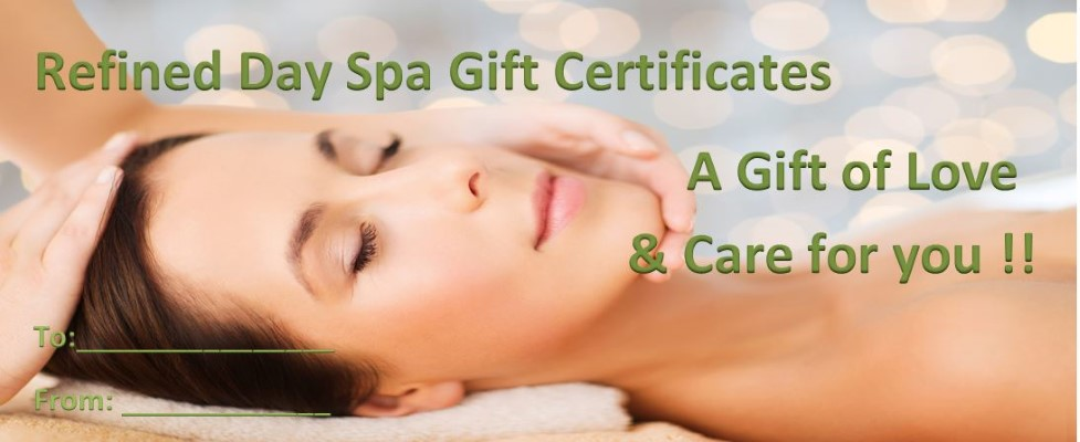 Day Spa Gift Certificate (Custom)